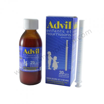 ADVIL ENFANTS ET NOURRISSONS 20 mg/1 ml, suspension buvable en flacon