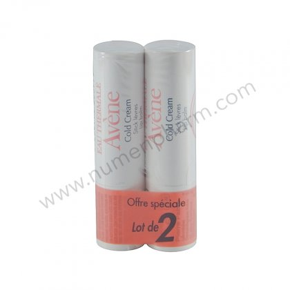 Avène lot 2 Stick lèvres au Cold Cream