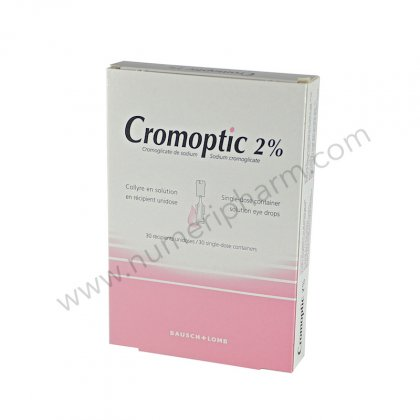 CROMOPTIC 2 %, collyre en solution en récipient unidose