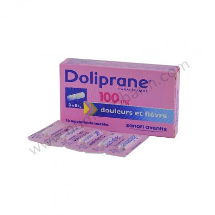 DOLIPRANE 100 mg, suppositoire sécable
