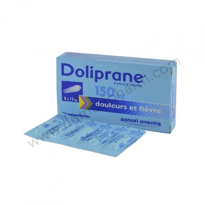 DOLIPRANE 150 mg, suppositoire sécable
