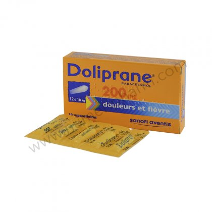 DOLIPRANE 200 mg, suppositoire sécable