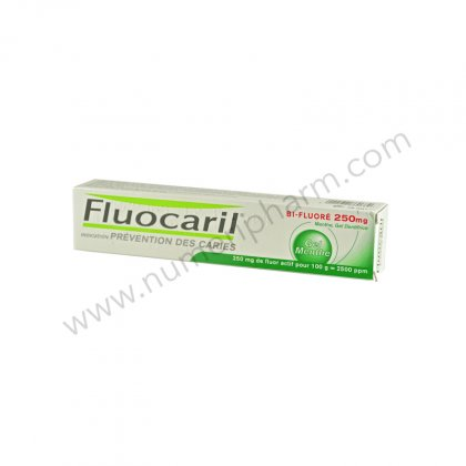 FLUOCARIL BI FLUORE 250 mg MENTHE, gel dentifrice