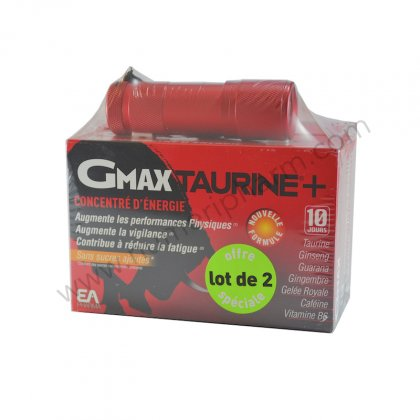 GMAX TAURINE lot 2 boites EA-Fit