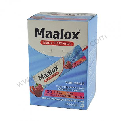 MAALOX SACHETS-doses fruits rouge, buvable