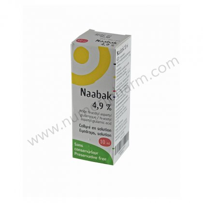 NAABAK 4,9 POUR CENT, collyre en solution