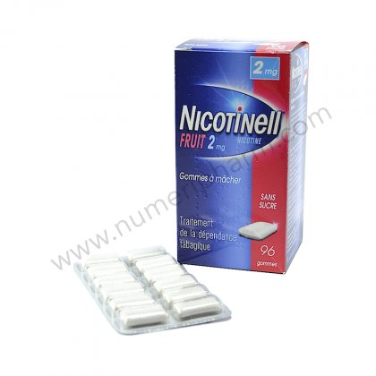 NICOTINELL FRUIT 2 mg, 96 gommes à mâcher Fruits SANS SUCRE