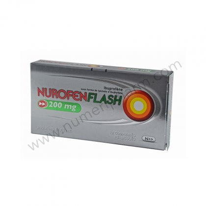 NUROFEN FLASH 200 mg, comprimé pelliculé