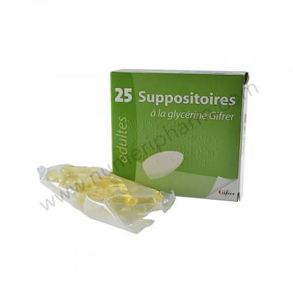 SUPPOSITOIRE A LA GLYCERINE GIFRER ADULTES