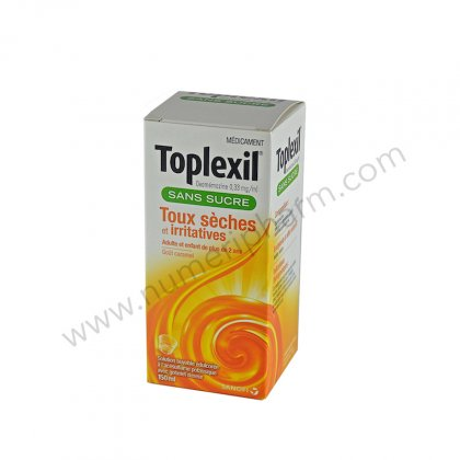 TOPLEXIL 0,33 mg/ml SANS SUCRE, solution buvable édulcorée à l'acésulfame potassique